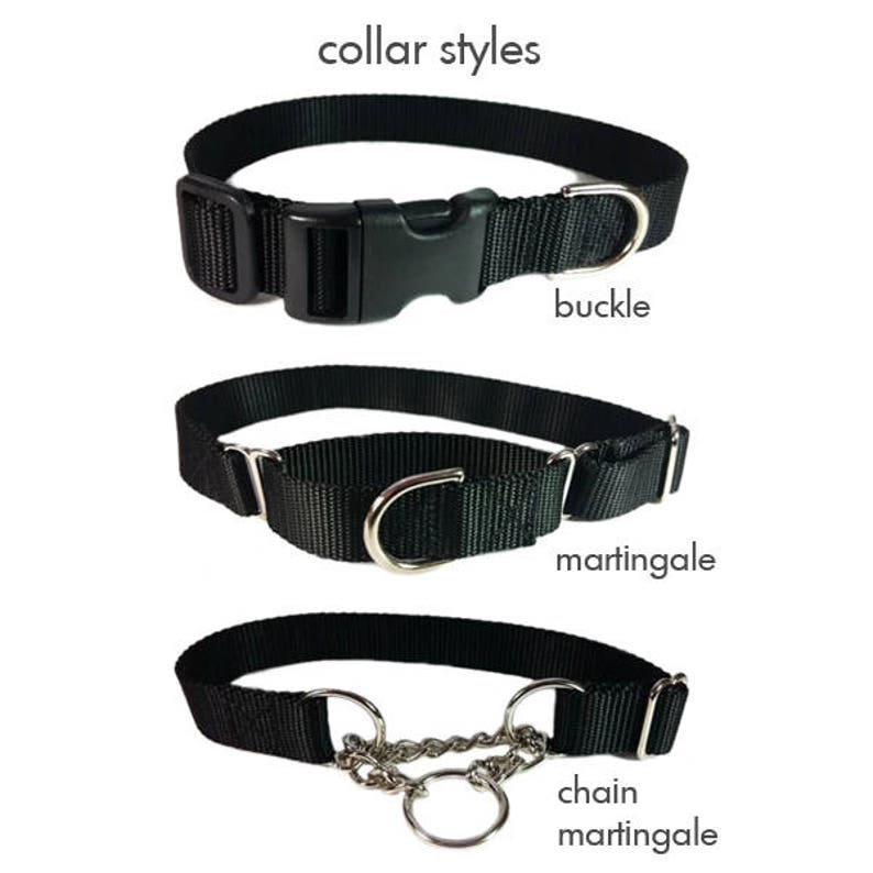 Made To Order 1 Width Only Neon Pumpkin Halloween Nylon Dog Collar Available in Buckle or Martingale or Chain Martingale