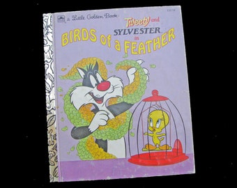 BIRDS Of A FEATHER (1992)  Tweety And Sylvester Little Golden Book - Vintage Children's Book - Excellent Condition - Hard Cover