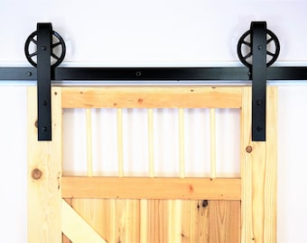 vintage classic sliding barn door hardware raw steel on sale for this month !!! 100% steel,Industrial  made in USA, .Single Door