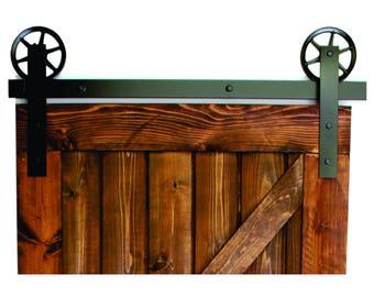 vintage flat sliding barn door hardware raw steel 100% steel, Made in USA