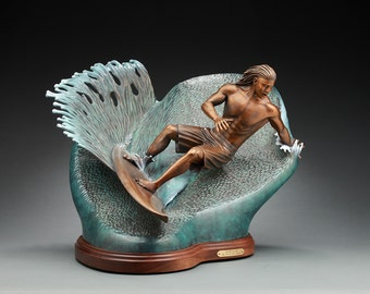 Surf's Up! - Bronze Sculpture