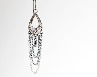 Bohemian earrings, boho chain earrings, tribal earrings, boho jewelry, long boho earrings, dangle earrings, boho style, women's jewelry