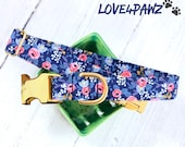 Flower Dog Collar - Floral Dog Collar - Designer Dog Collar - Cute Cat Collar - Summer Collar - Cat Safety Collar - Pet Lover Gift