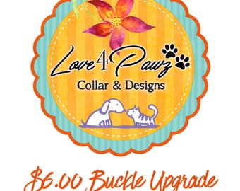 Nickel and Brass Alluminum Dog Collar Hardware Upgrade
