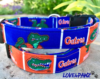 Florida Gators Adjustable Fabric Dog or Cat Collar