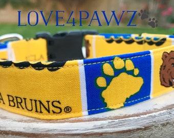 UCLA Bruins Adjustable Fabric Dog or Cat Collar