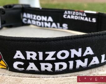 Arizona Cardinals NFL Football Adjustable Fabric Dog or Cat Collar