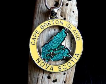 Cape Breton Necklace, Cape Breton Jewelry, Cape Breton Pendant, Nova Scotia Jewellery, Cape Breton Jewellery, Nova Scotia Pendant