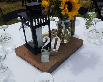 """Graduation 2022 Table Number (1) 4"""" free standing Galvanized Steel table number 5"""" tall over all"""
