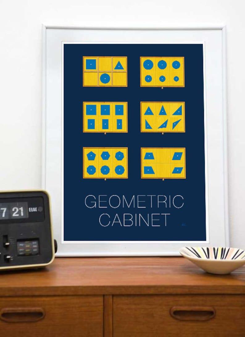 fe2e1fd5 Montessori Geometric Cabinet Art 8x10 or 11x17 Montessori | Etsy
