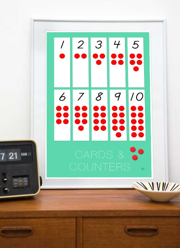 d5ac9b77 Montessori Cards & Counters Art 8x10 or 11x17 Montessori | Etsy