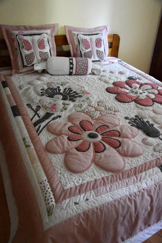 King Size Quilt Double Quilt Flower Quilt Wild Papaver Etsy