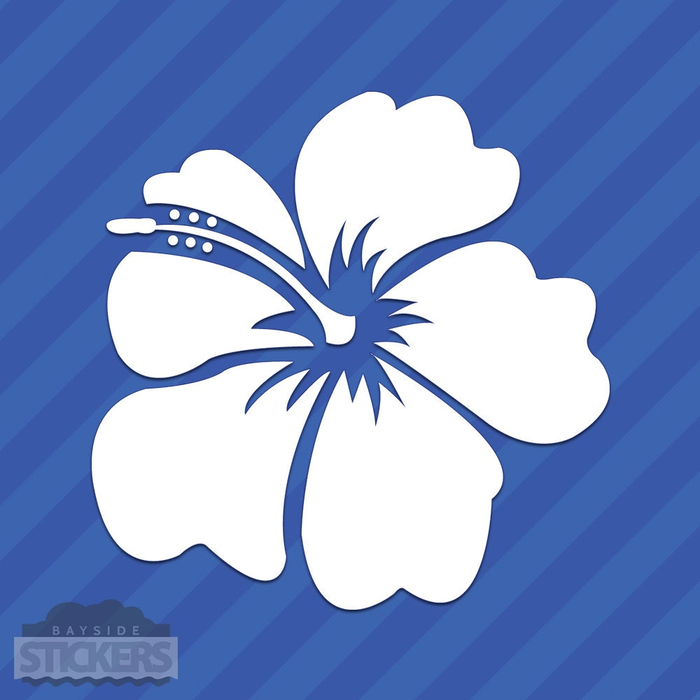 Hibiscus flower vinyl decal sticker hawaii hawaiian islands etsy hibiscus flower vinyl decal sticker hawaii hawaiian islands izmirmasajfo