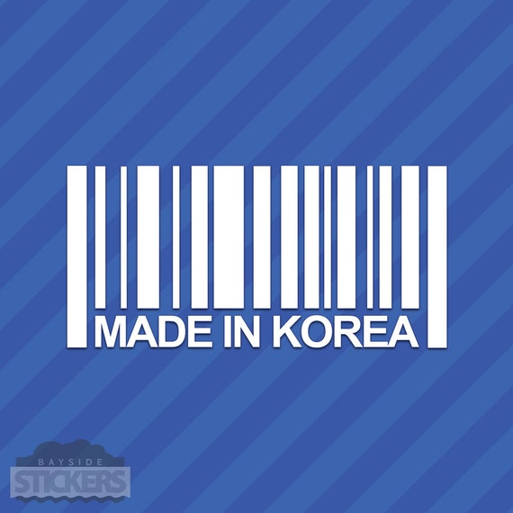 Made In Korea Barcode Vinyl Decal Sticker