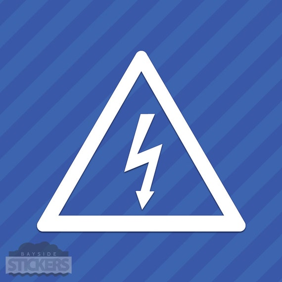 High Voltage Electrical Shock Hazard Warning Symbol Vinyl
