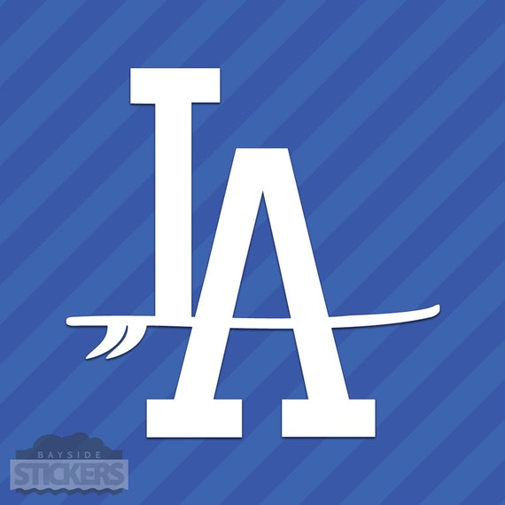 LA Dodgers vinyl sticker for skateboard luggage laptop tumblers car e