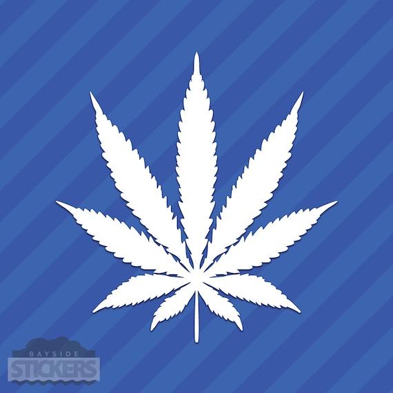 "Pot Leaf Cannabis Vinyl Decal Sticker 420 Marijuana Weed 4/"""