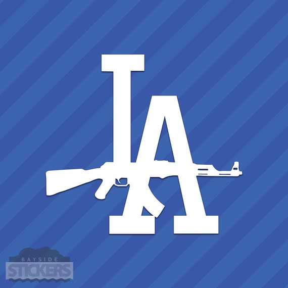 Los Angeles Dodgers La Ak 47 California Vinyl Decal Sticker Etsy
