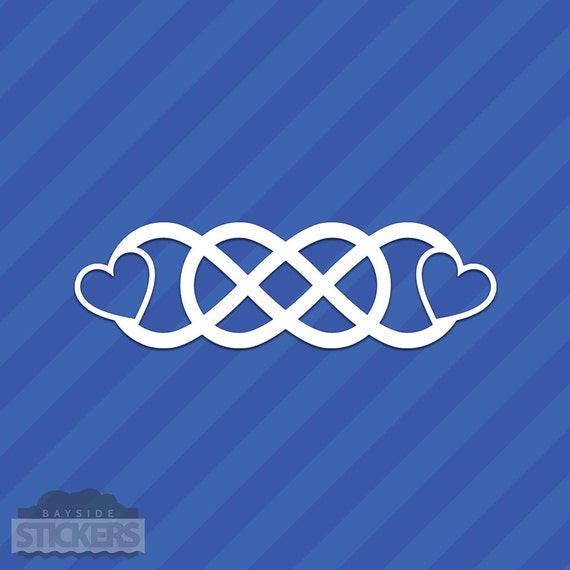 Double Infinity With Hearts Love Vinyl Decal Sticker