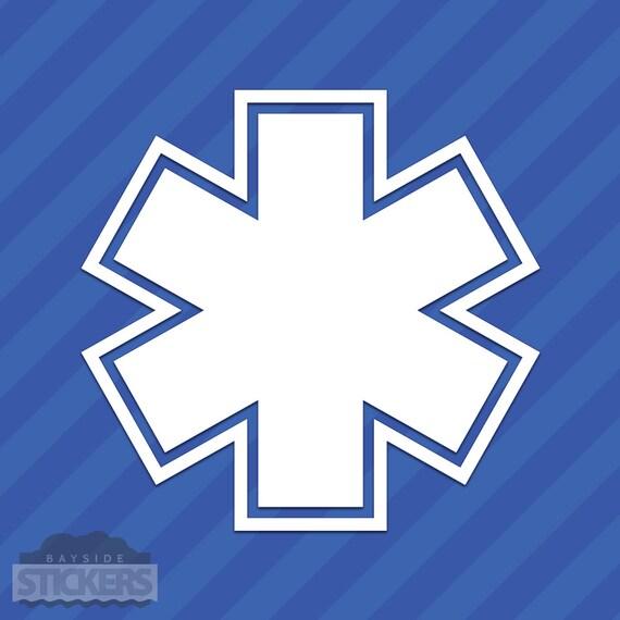 Ems Symbol Outline Vinyl Decal Sticker Paramedic Nurse Emt Etsy
