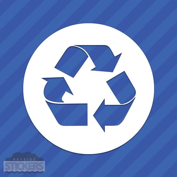 Recycle Symbol Vinyl Decal Sticker Etsy