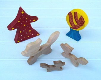 Wooden Toys - Animal Family - Fox