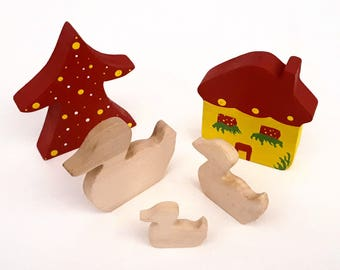 Wooden Toys - Animal Family - Duck
