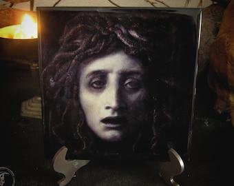 Ceramic Tile Decor - Medusa (Arnold Böcklin) -