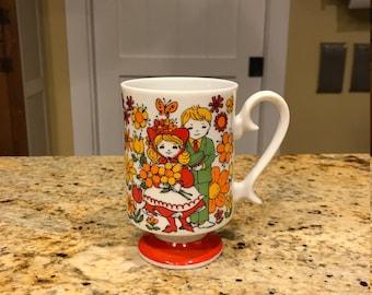 Vintage Coffee Tea Cup Mug R6798 Young Love Japan Barware