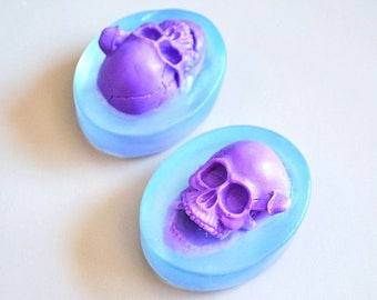 2 skull Soaps - decorative soap - oval soap - soap favors - Party Soap - Scented soaps - Glycerin Soap - soap gift
