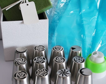 Russian Piping Tips - Russian nozzle - Russian icing Tips - Tri Colored Icing Tip - piping Nozzles - icing Tip