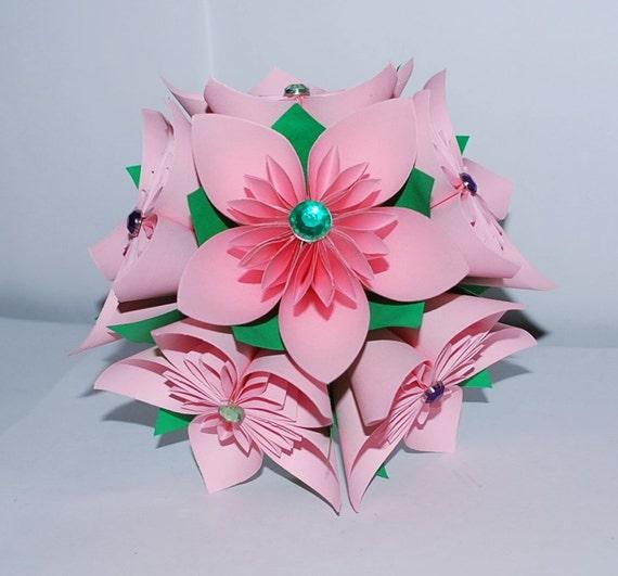 Origami flower bouquet paper flower bouquet wedding flower etsy image 0 mightylinksfo