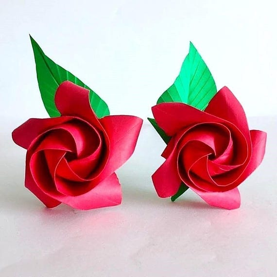 Paper roses origami roses origami flowers paper flowers etsy image 0 mightylinksfo