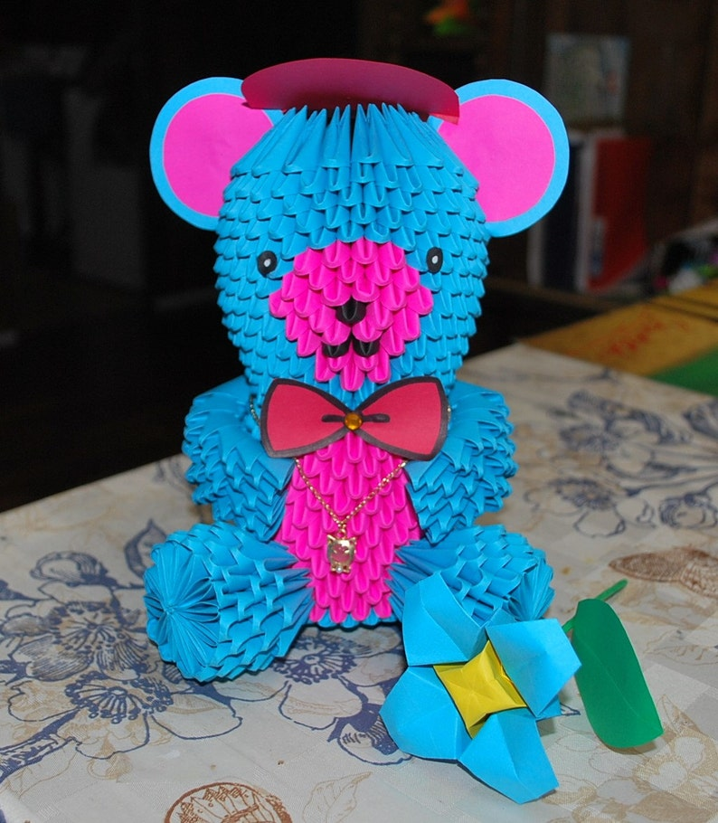 ORIGAMI FOR KID: how to make an Origami Teddy Bear Tutorial - YouTube | 910x794