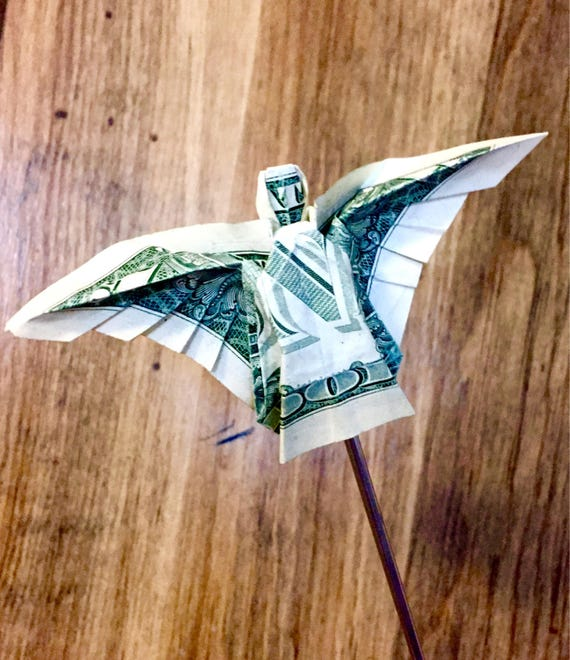 Dollar Bill Origami Christmas Tree: Origami Angel Money Angel Angel Ornament Money Ornament