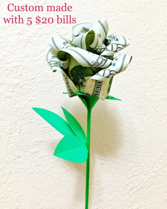 Money Roses Money Flower Bouquet Rose Bouquet Origami Etsy