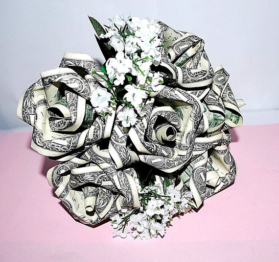 Money Roses Money Flower Bouquet Rose Bouquet Origami Etsy