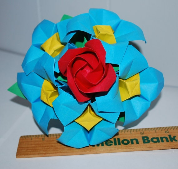 Origami flower bouquet paper flower bouquet wedding etsy image 0 mightylinksfo
