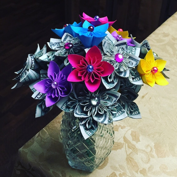 Money flowers Kusudama flowers flower bouquet origami | Etsy