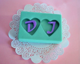 2 rectangle soap bars - personalized soaps - heart soaps - initial soap - wedding favor soap - customized - Glycerin Soap - soap gift