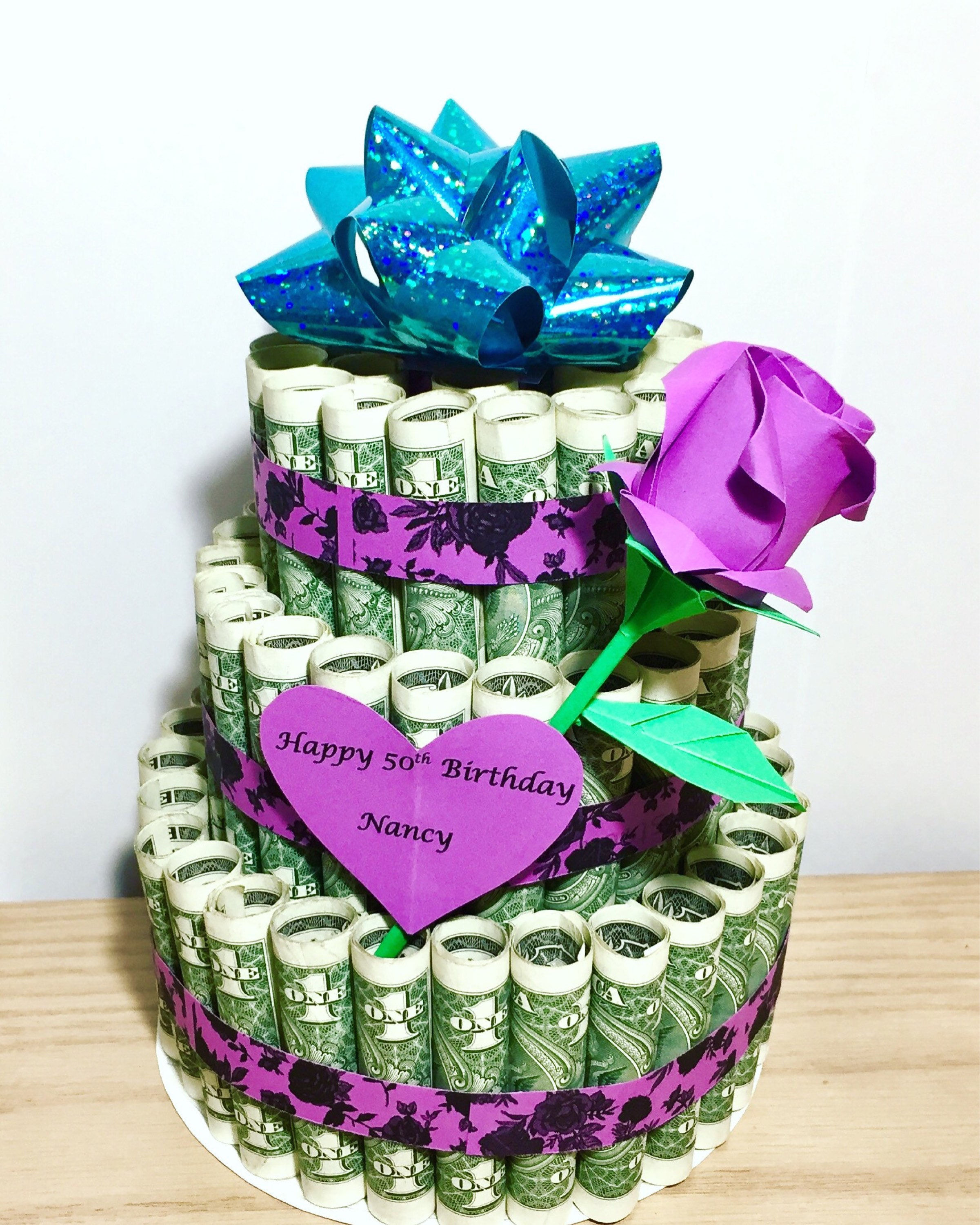 Money Cake Birthday Art Dollar Gift