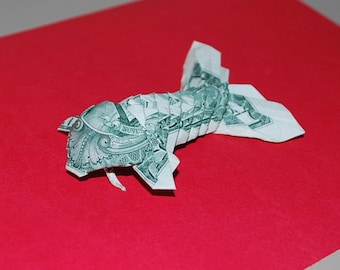 Money Origami - origami fish - Koi Fish - US dollar bill - fish Gift - fish Decor - fish Ornament - fish accessary