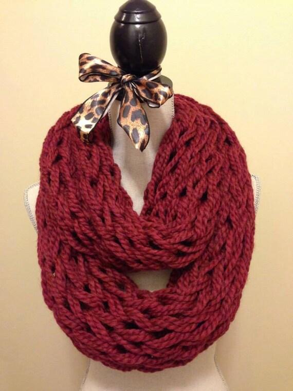 Burgundy Arm Knit Scarf Etsy