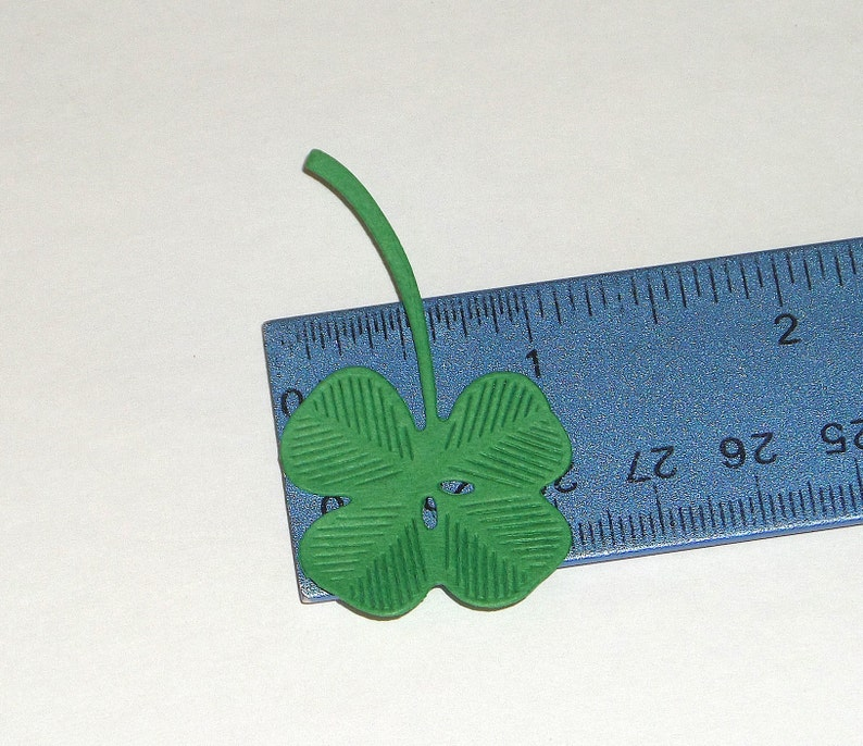 Card Tag Making Scrapbooking Four Leaf Clover Die Cut Spring St Patricks Day Embossed Shamrock
