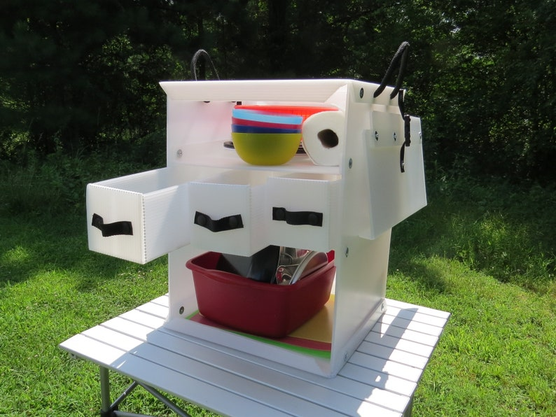 The Camping Kitchen Box 650, A Lightweight Plastic Chuck Box - Keep your  Camp Kitchen organized and Ready for Adventure.