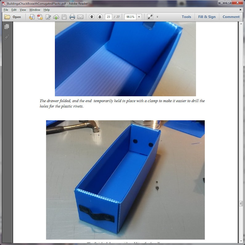 Instructions for Building a Chuck Box with Corrugated Plastic