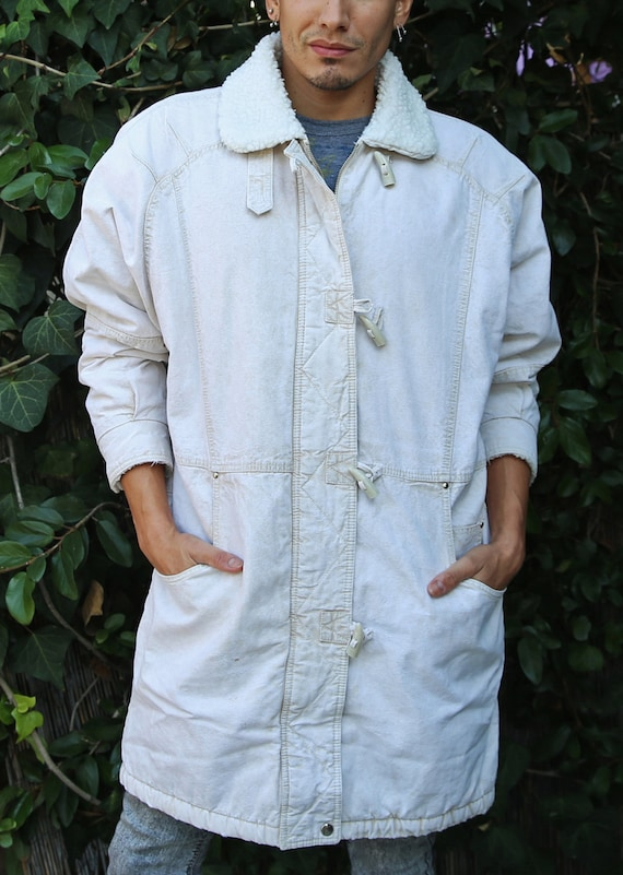 Vintage 80's Andy Johns® white, long winter coat/j