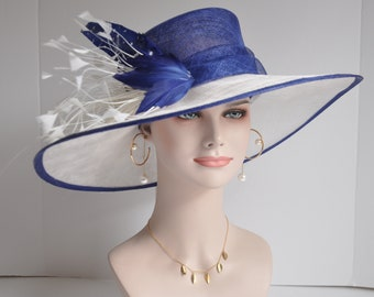 ac3f19f8188 Royal Blue with White Kentucky Derby Hat