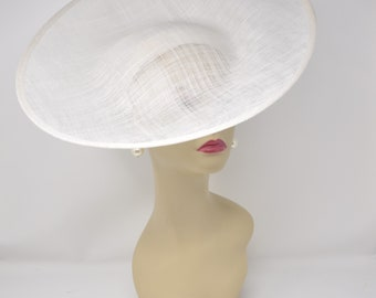 diameter Sinamay Saucer Shaped Fascinator and Hat Base for Fascinators and Millinery 31cm Ivory HA061 13 inch