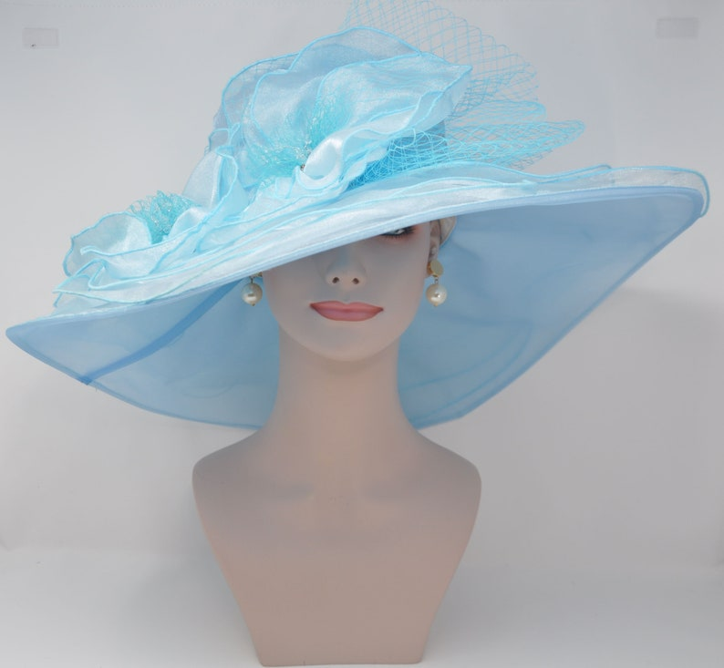69b9e8abab2c2 New Kentucky Derby Hat Church Wedding Tea Party with Two